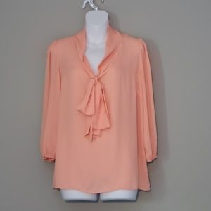 Price Drop! Necessary Clothing Pussybow Blouse.